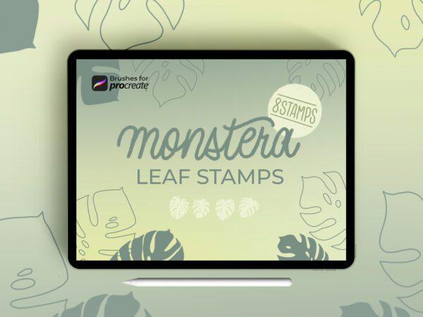 Procreate monstera leaf by laura.design